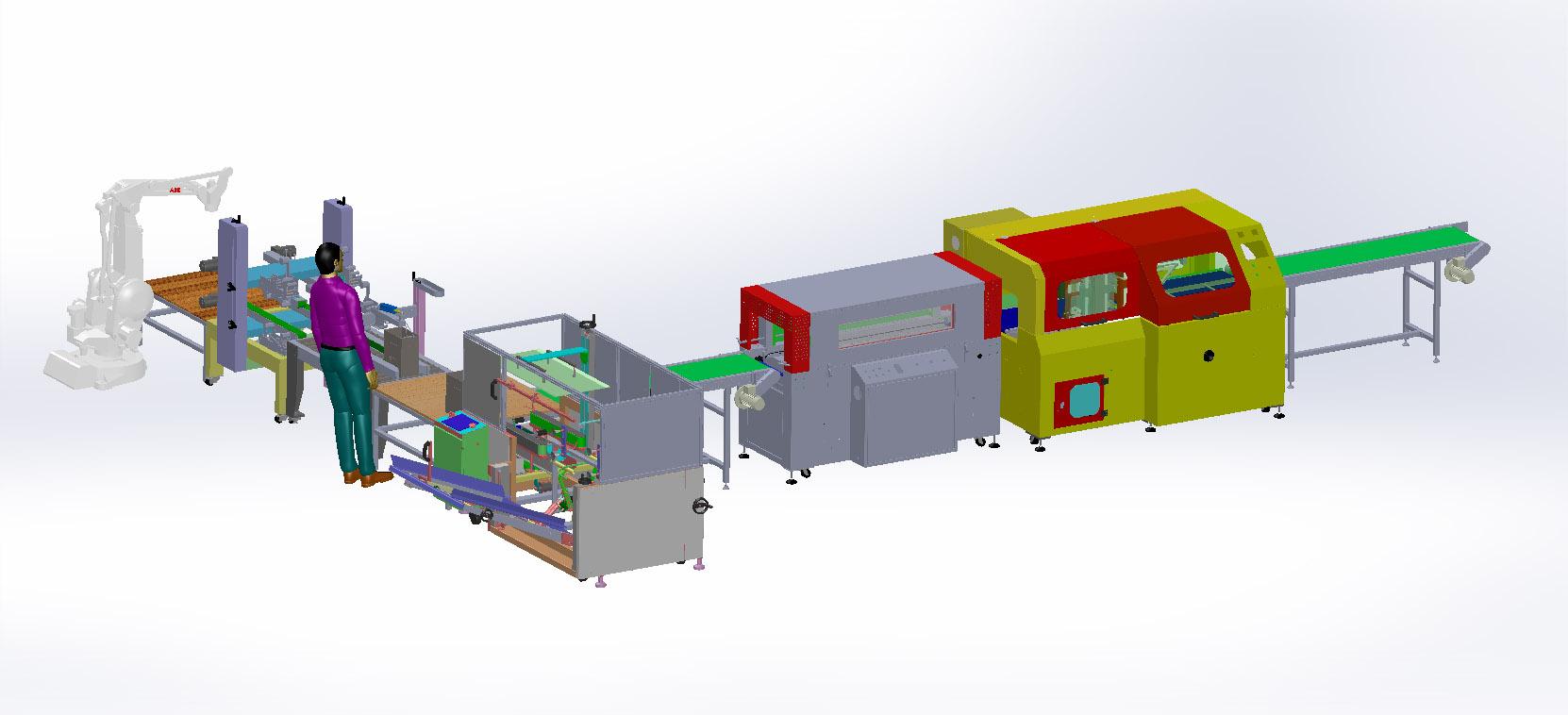 智能热收缩包装机开箱封箱机器人跺码